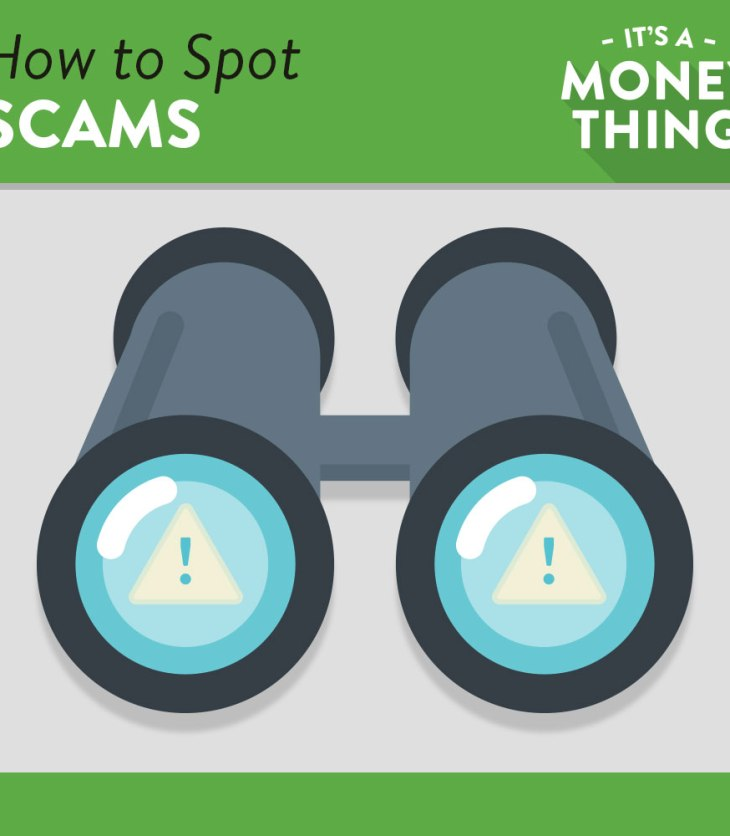Binoculars looking out for any threat of scams or fraud