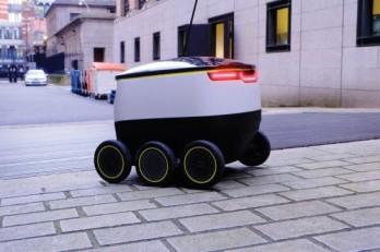 Basket sized robot in Estonia