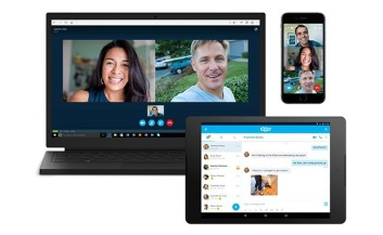 Picture of people using skype to call their families and friends