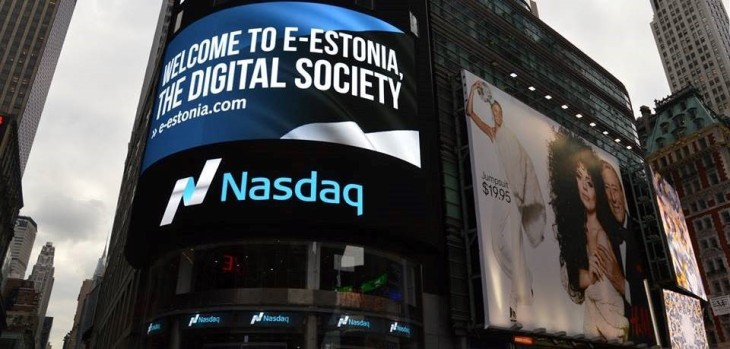 Estonian e-society displayed in Times Square in NYC