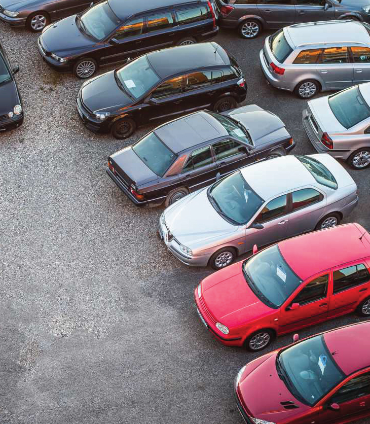 Picture of a parking lot of cars for sale