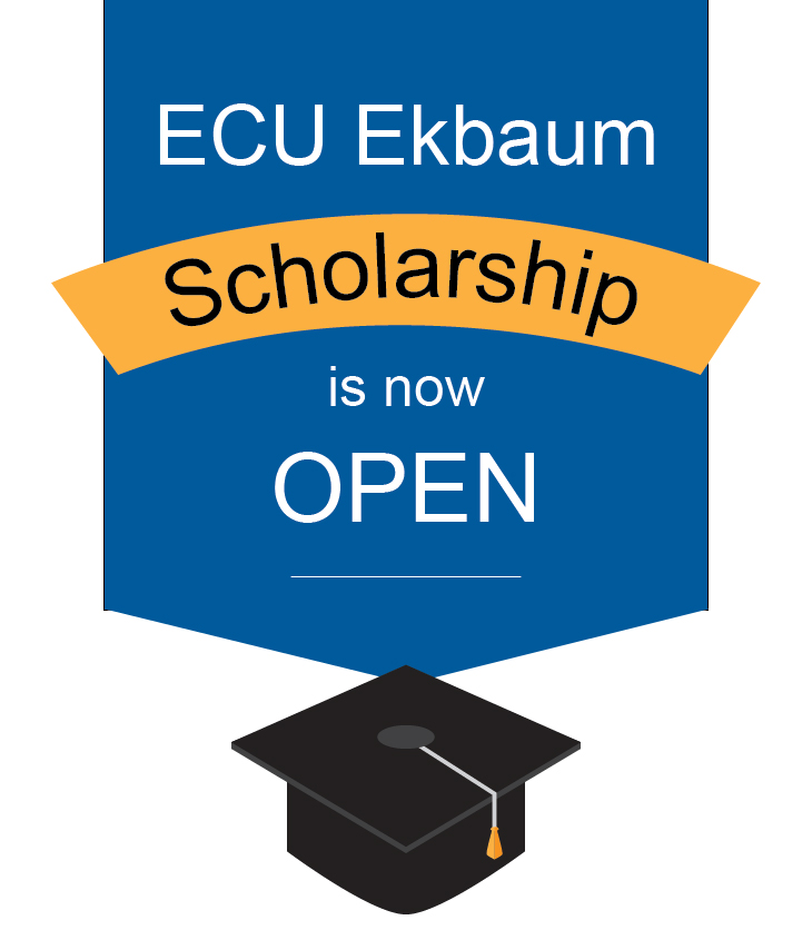 ECU Ekbaum Scholarship is now open and accepting applications.