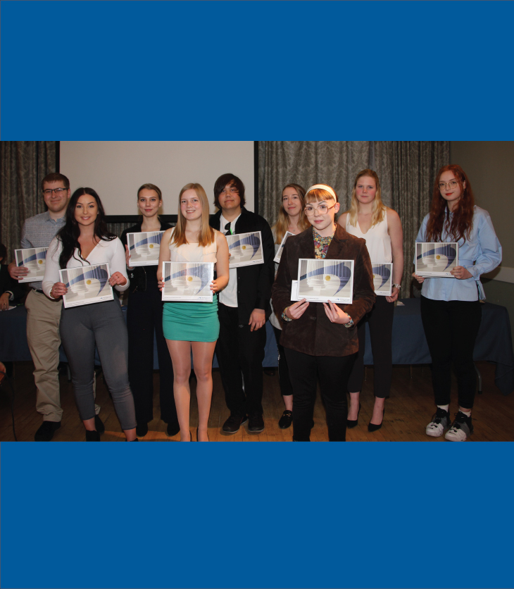 Picture of post-secondary scholarship recipients